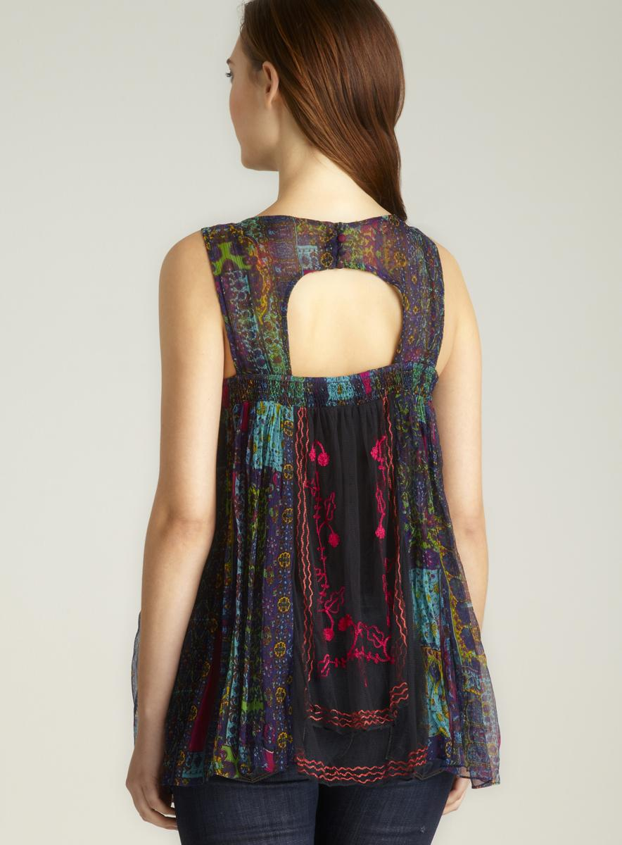Free People Sheer Printed Tank