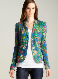 Philosophy One Button Floral Blazer