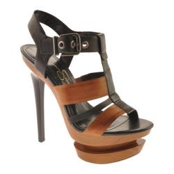 Women's Jessica Simpson Cathi Black/Tan Leather