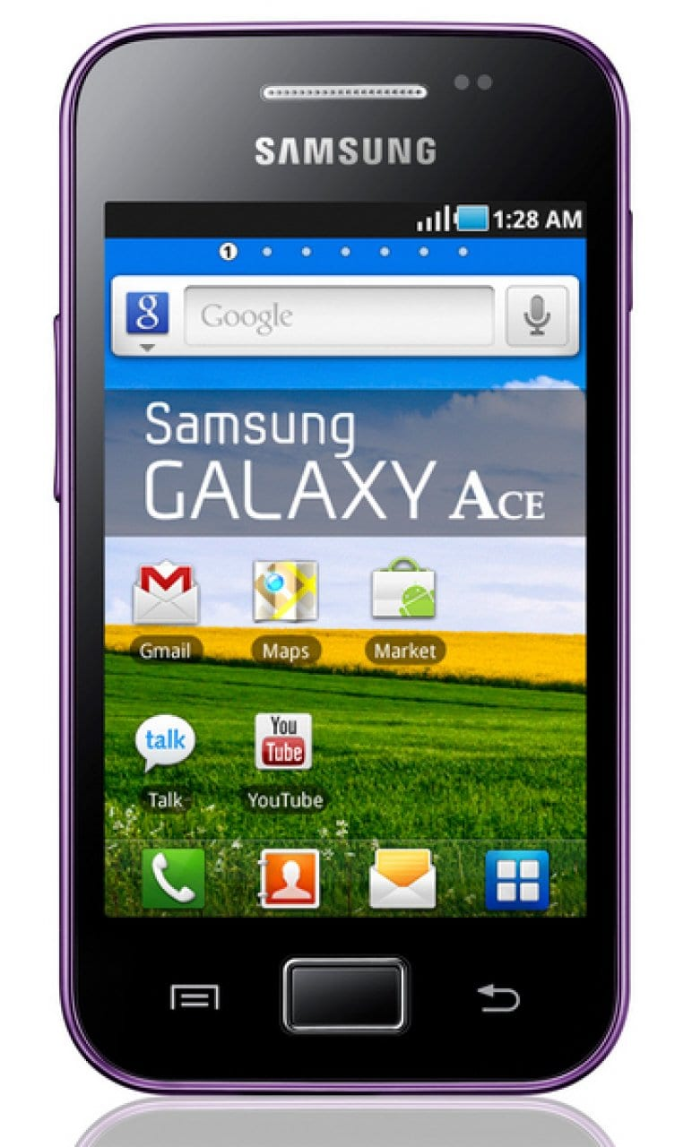 Samsung Galaxy Ace S5830 GSM Unlocked Android Cell Phone - Purple