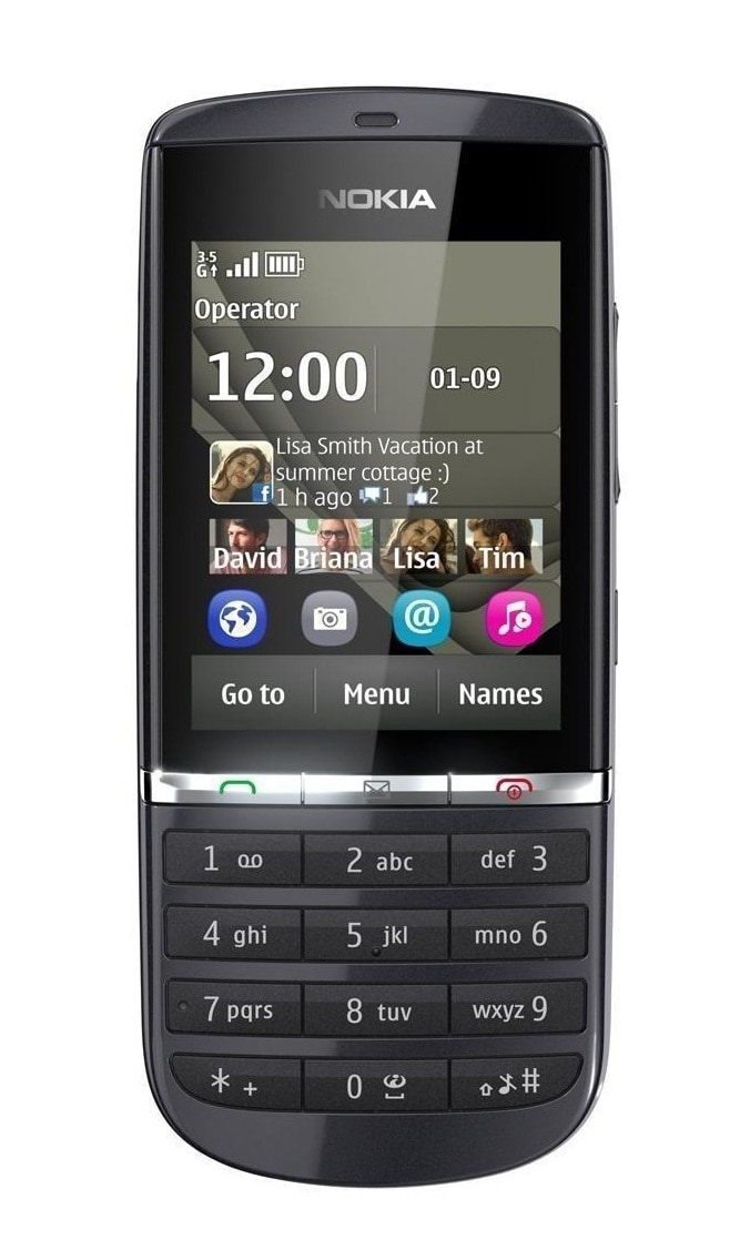 Nokia Asha 300 GSM Unlocked Cell Phone - Graphite