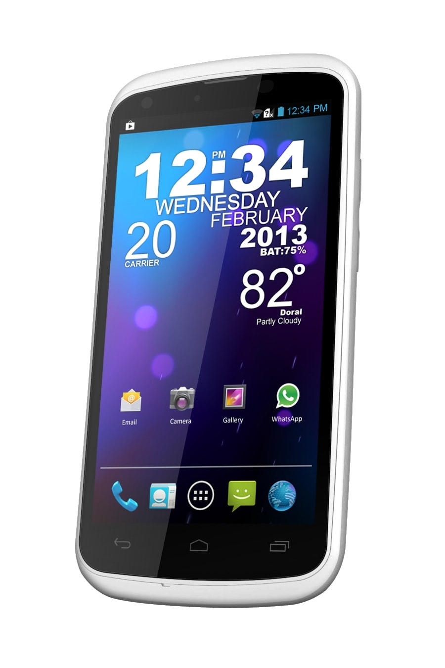 BLU Tank 4.5 W110i GSM Unlocked Dual SIM Android 4.1 Cell Phone - White
