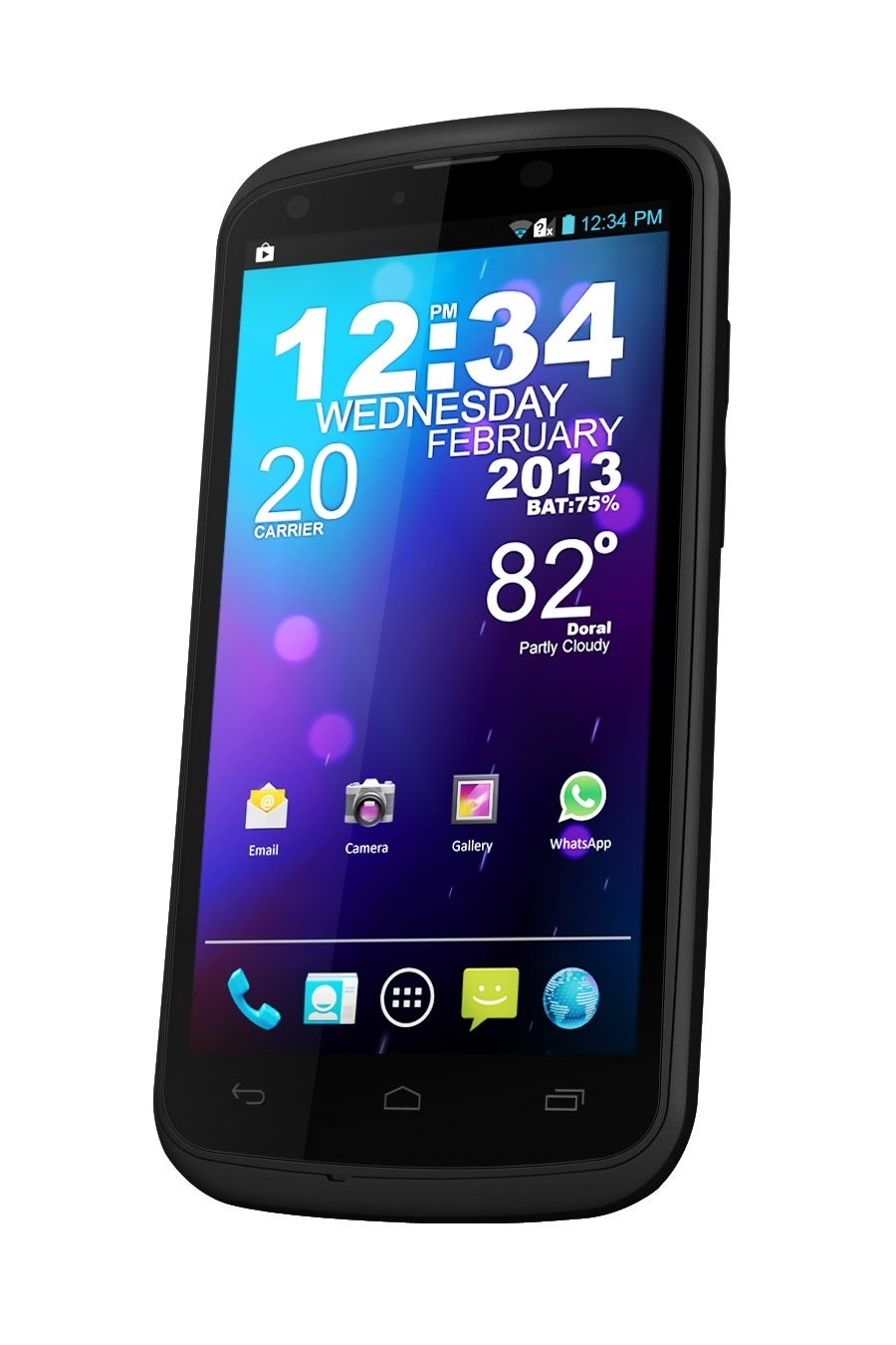 BLU Tank 4.5 W110i GSM Unlocked Dual SIM Android 4.1 Cell Phone - Black