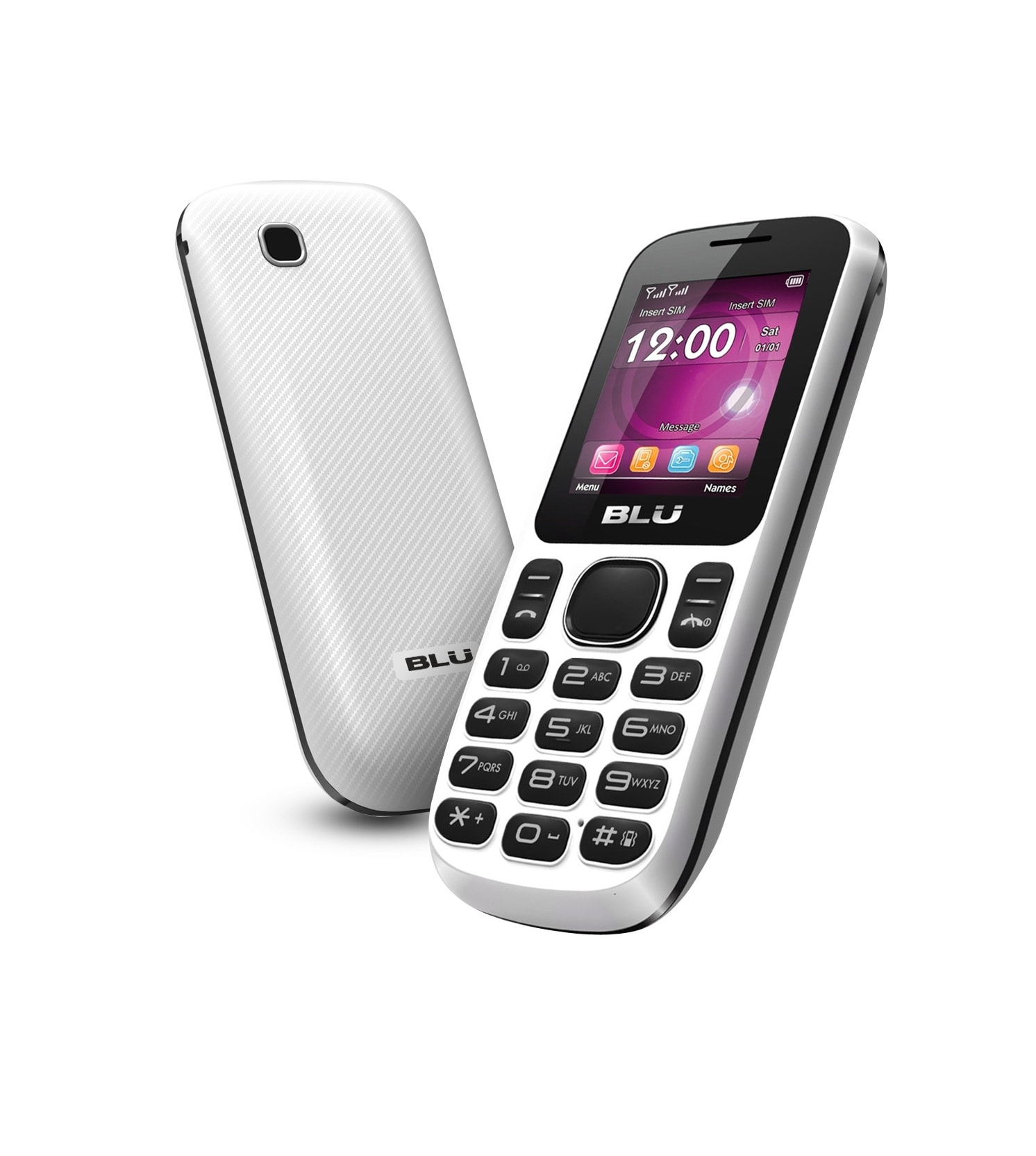 BLU Jenny T172i GSM Unlocked Dual SIM Cell Phone - White