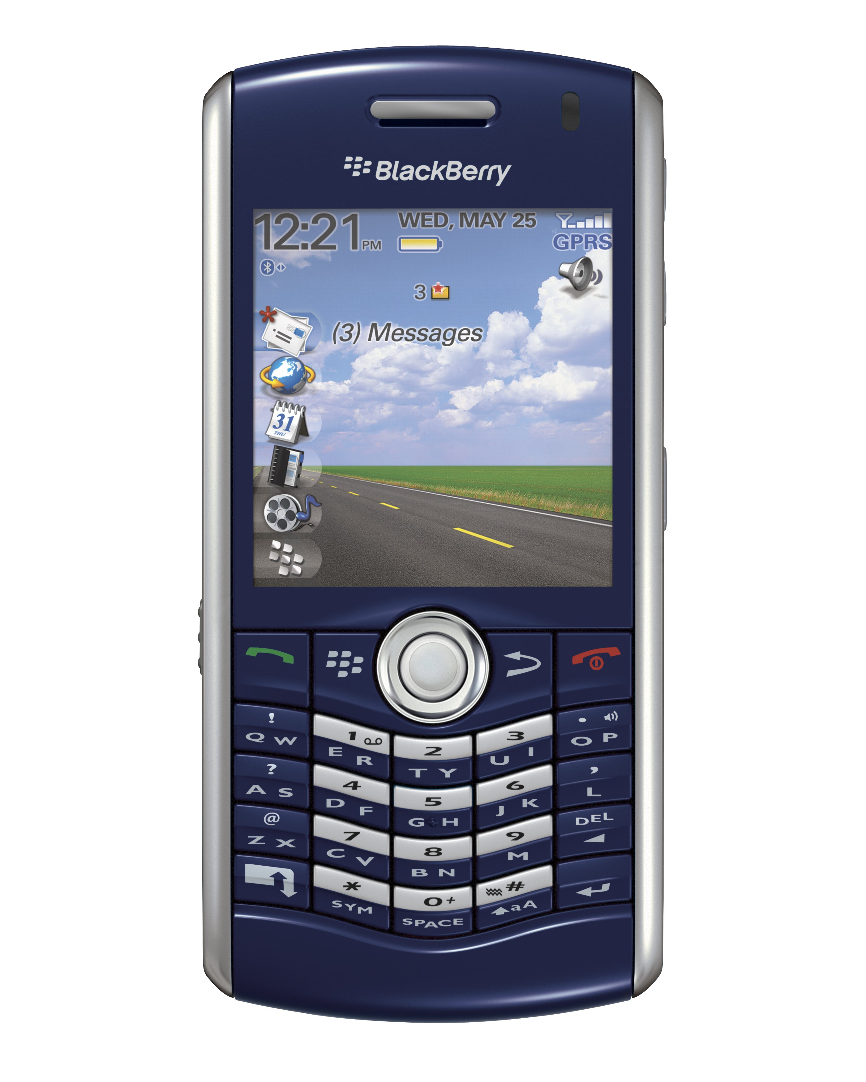 Blackberry Pearl 8110 Phone GSM Unlocked Cellphone - Amethyst Purple