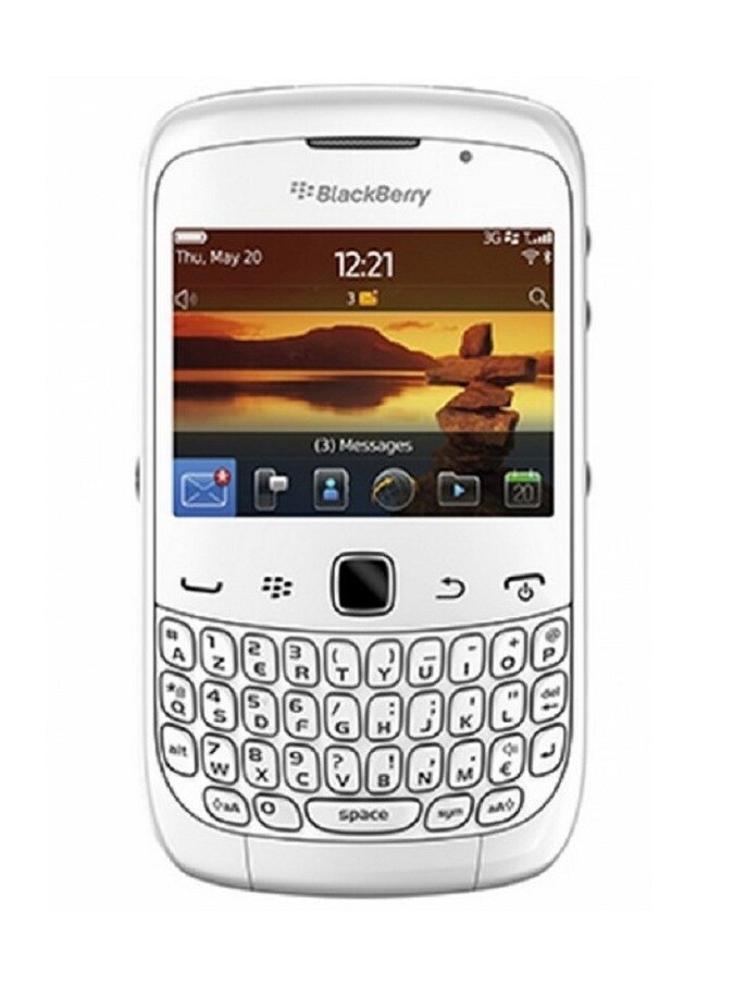 Blackberry Curve 9300 GSM Unlocked OS 5 Cell Phone - White