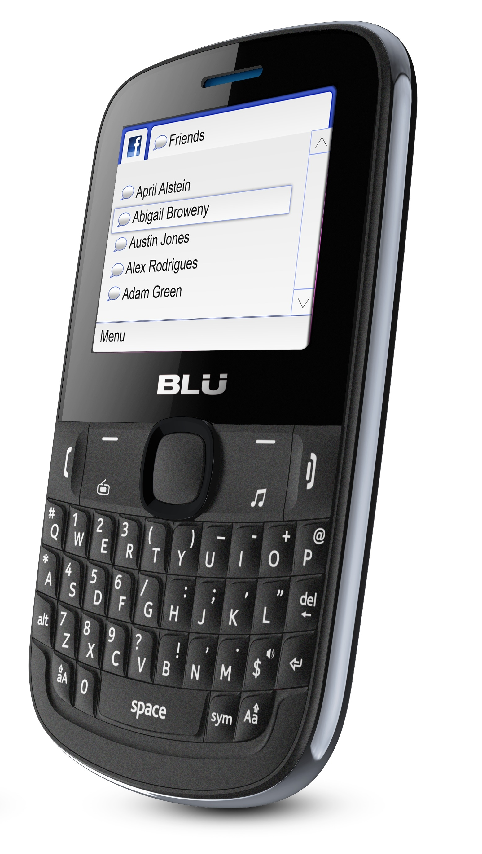 BLU Tattoo S Q192 GSM Unlocked QWERTY Cell Phone - Gray