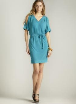 Laundry Split Sleeve Sash Dress