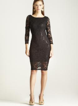 Marina Floral Sequin Size 6 Lace Dress