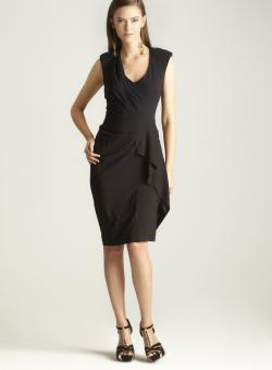 Nicole Miller Stretch Silk Twill Dress