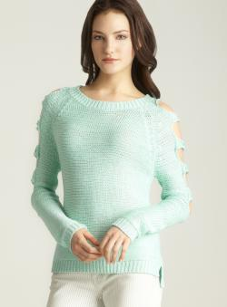 Romeo & Juliet Couture Sleeve Cutout Sweater