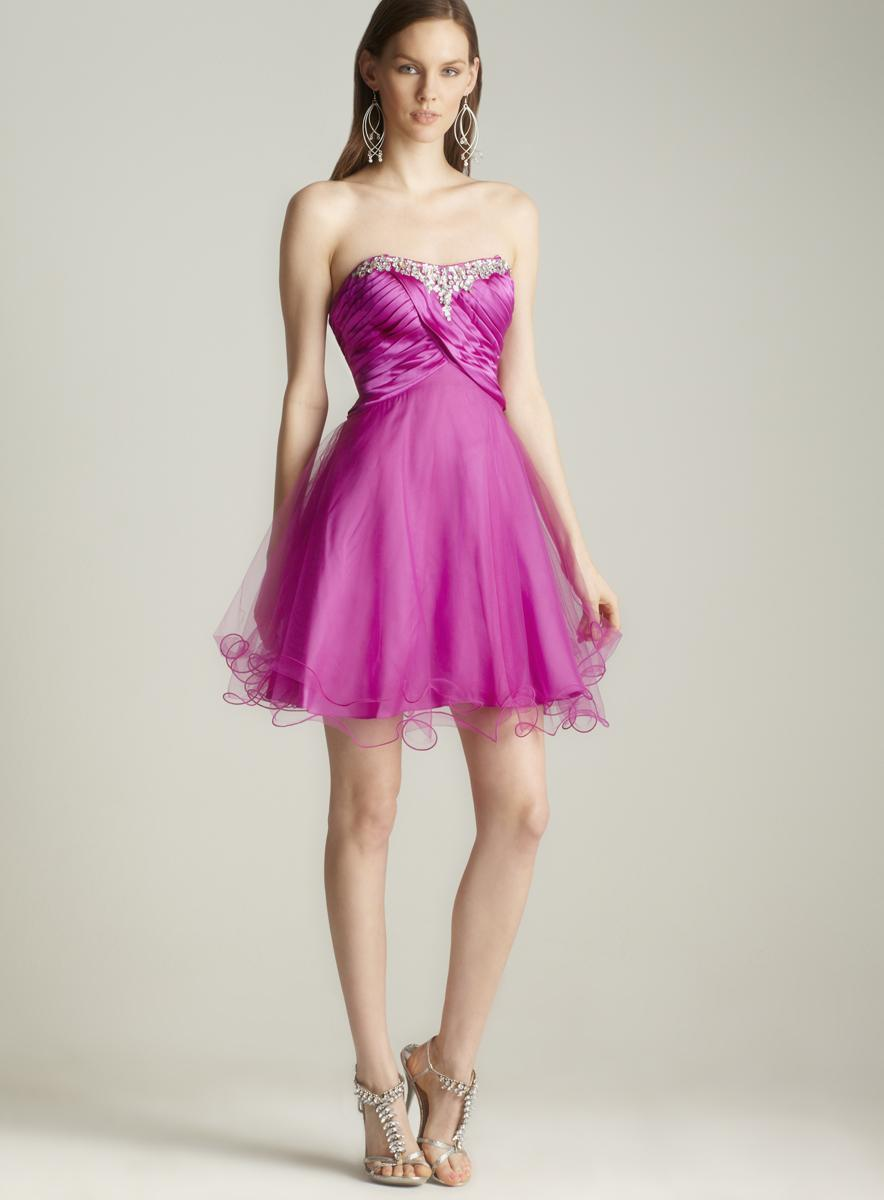 Strapless Full Skirt Dress