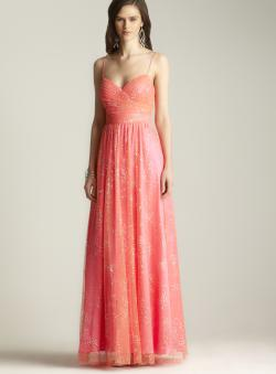 Hailey Logan Glitter Mesh Gown