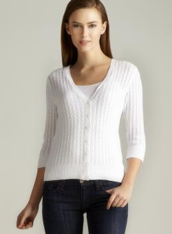Jeanne Pierre Cable Knit Cardigan
