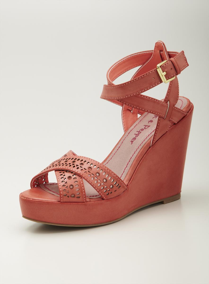 Pink & Pepper High Wedge Sandal