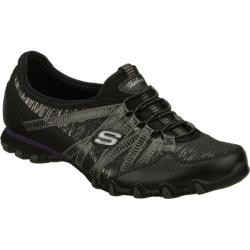 Women's Skechers Bikers Sparkling Black/Silver