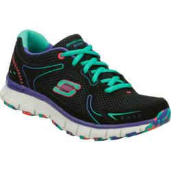 Women's Skechers Flex Fit Fade Away Black/Green