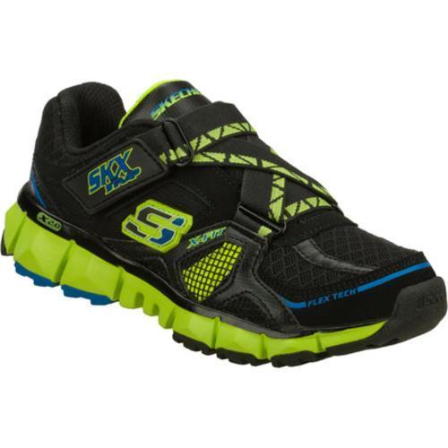 Boys' Skechers X 2.0 Wit Black/Green