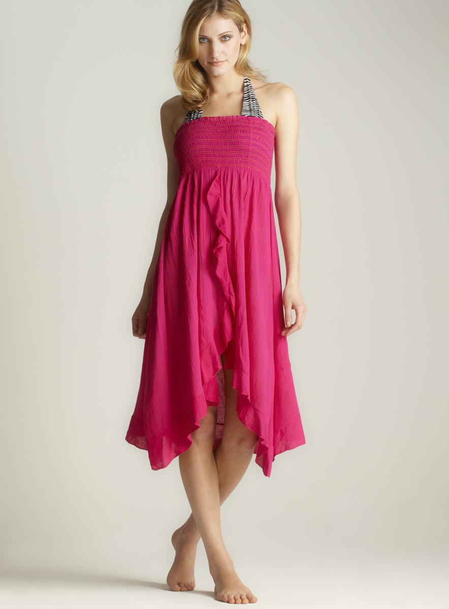 Raviya Ruffle Front Tube Dress