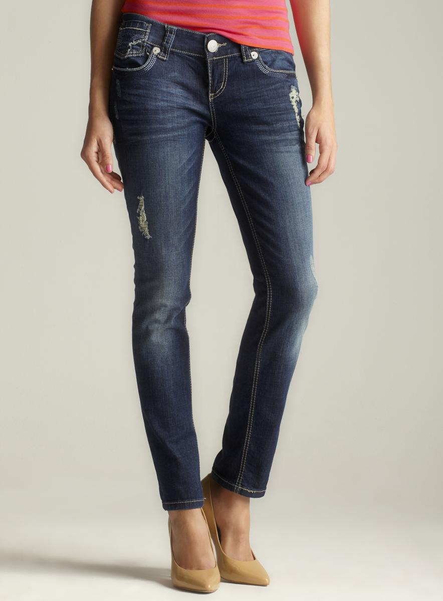 Seven 7 Detailed Pocket Skinny Jean