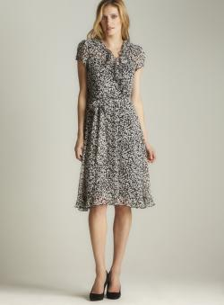 MSK Sheer Floral Print Dress