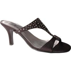Women's Annie Audrey Black Satin