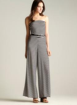 Moa Moa Sleeveless Striped Jumpsuit