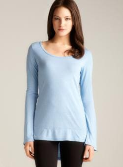 Pure Karma Hi-lo Scoop Neck Top