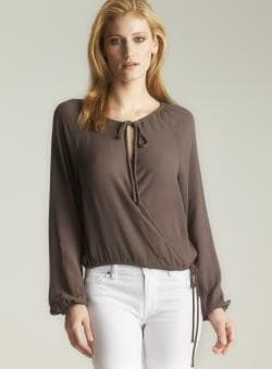 Marc By Marc Jacobs Crepe Cross Over Blouse