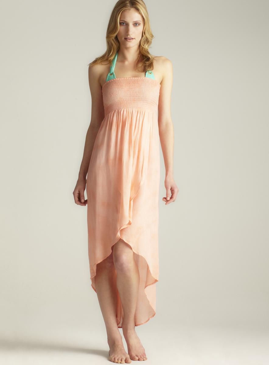 Raviya Tie Dye Tulip Front Tube Dress