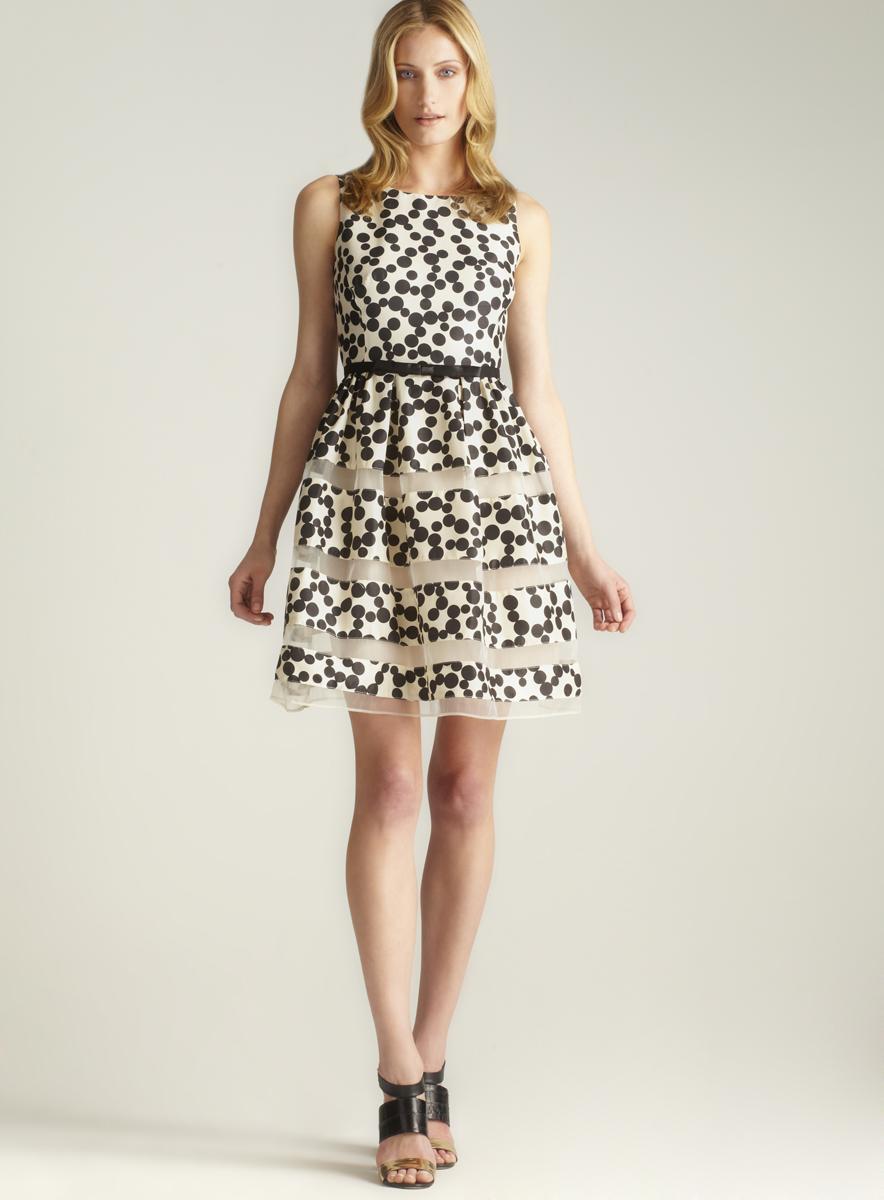 Taylor Back Buttoned Polka Dot Tank Dress