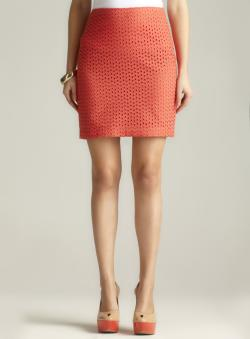 Max Studio Eyelet Pencil Skirt
