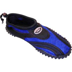 Men's Easy USA Water Shoes/Aqua Socks (2 Pairs) Black/Blue