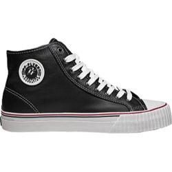 PF Flyers Center Hi Black Full Grain Leather