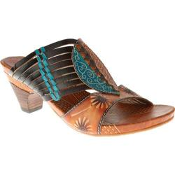 Women's Spring Step Minka Brown Multi Leather