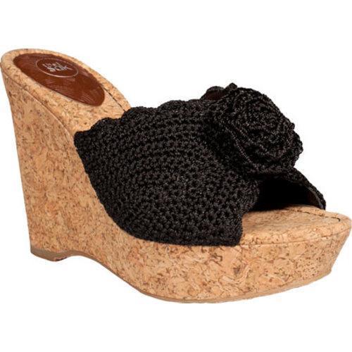 Women's THE SAK Meli Wedge Thong Black Sparkle