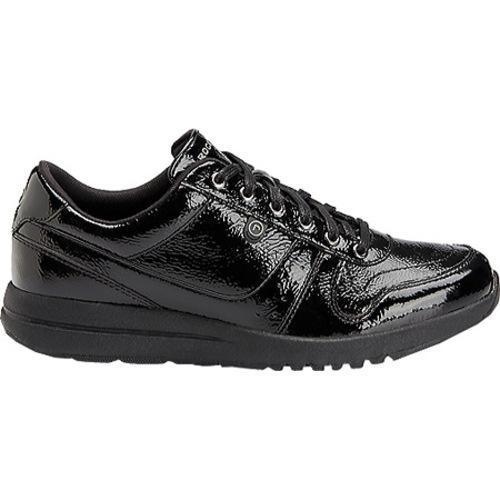 Women's Rockport Zana Walking Sneaker Black Patent