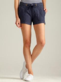 Sanctuary Drawstring Waist Linen Shorts