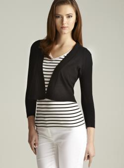 Audrey & Grace Long Sleeve Flyaway Shrug