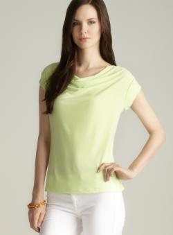 Paniz Kiwi Draped Neck Top