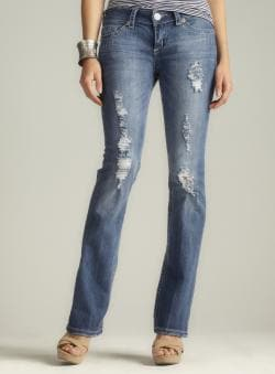 Seven7 Destructed Bootcut Denim Jean