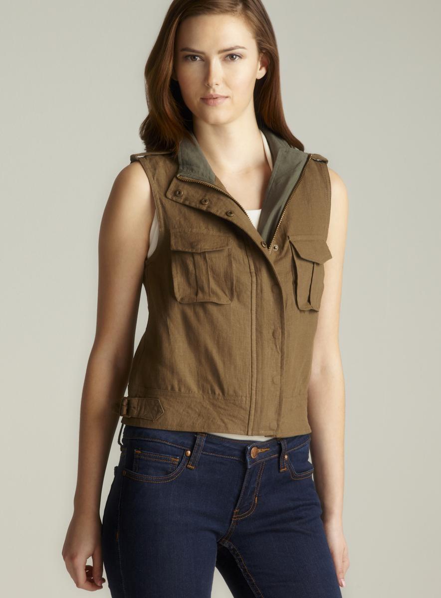 Costa Blanca Two Pocket Linen Vest