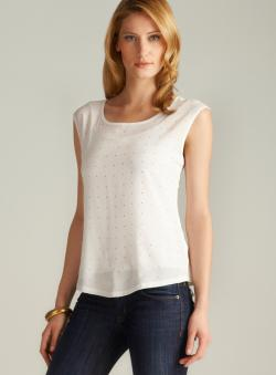 Calvin Klein Sleeveless Studded Top