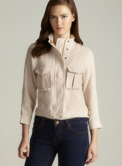 Costa Blanca Cropped 3/4-sleeve Blazer