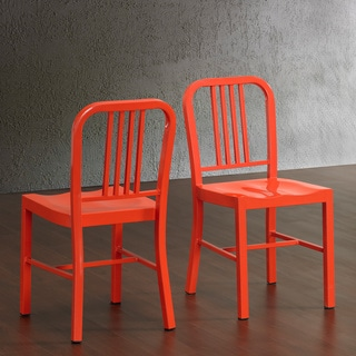 Tangerine Metal Side Chairs (Set of 2)