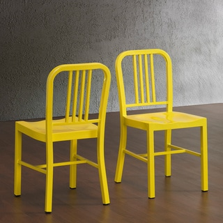 Lemon Metal Side Chairs (Set of 2)