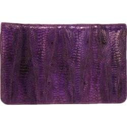 Women's Latico Ginger Wallet 5302 Purple Leather