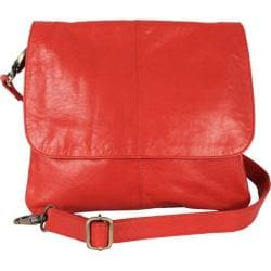 Women's Latico Jamie Cross Body/Shoulder Bag 7991 Poppy Leather
