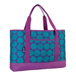 Women's Wildkin Tote-All Big Dot Aqua