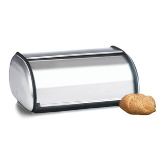 17.25-inch Brushed Steel Bread Box